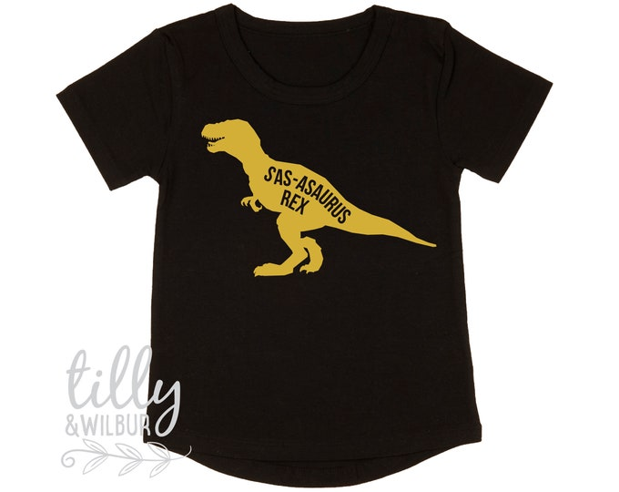 Personalised Dinosaur T-Shirt For Girls