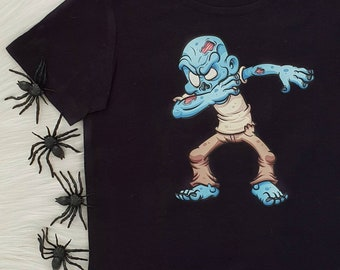 Dabbing Zombie Halloween T-Shirt For Boys
