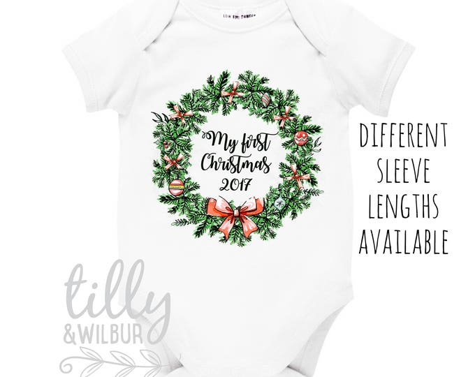 My First Christmas 2018 Baby Outfit