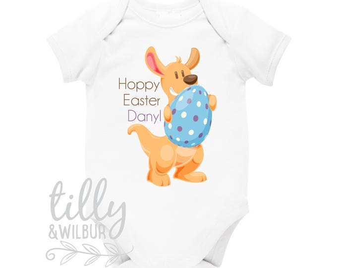 Personalised Australiana Easter Baby Bodysuit