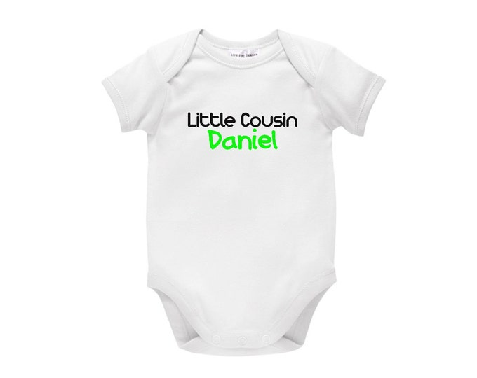 Little Cousin Personalised Baby Bodysuit