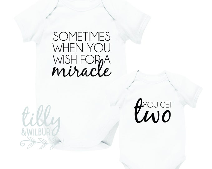 Sometimes When You Wish For A Miracle, You Get Two Twin Bodysuits
