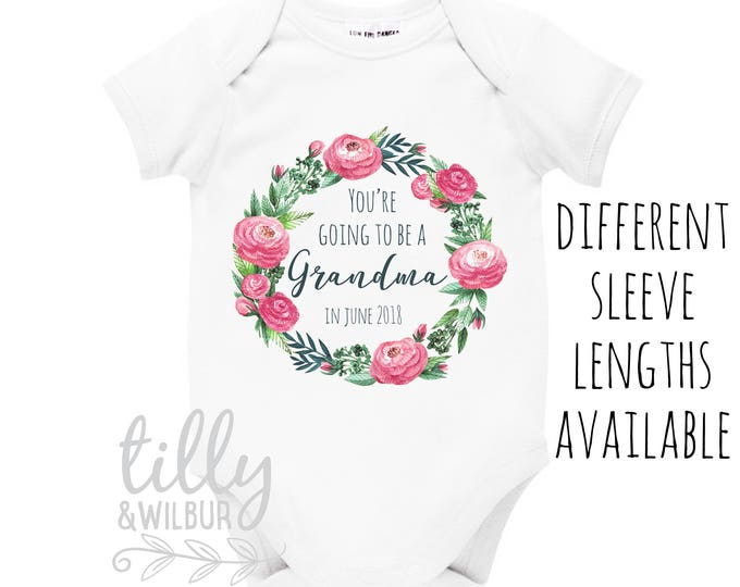 Pregnancy Announcement Grandparents Bodysuit