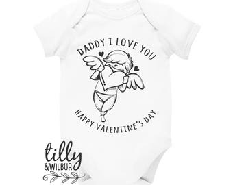 Daddy I Love You Happy Valentine's Day Cupid