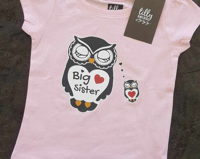 Big Sister T-Shirt for Girls
