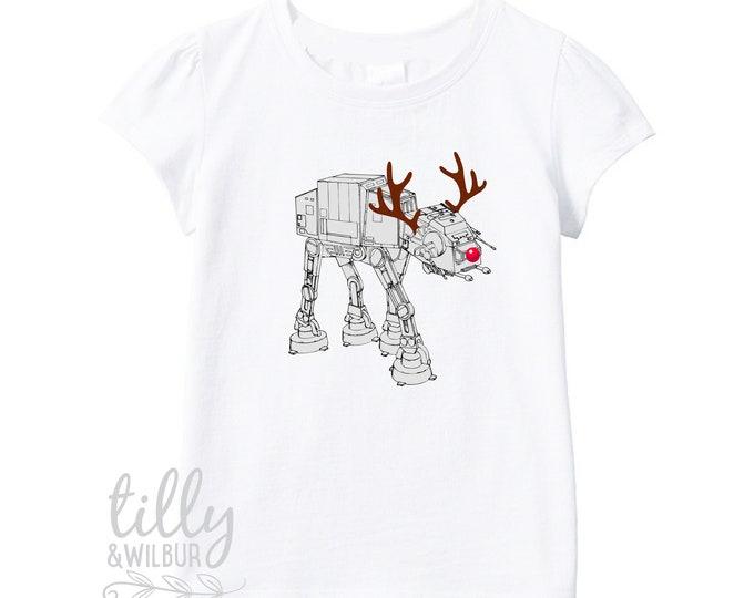 Star Wars AT-AT Walker Christmas Reindeer Girl's T-Shirt