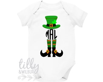 St Patrick's Day Personalised Baby Bodysuit For Girls