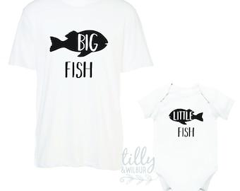 Big Fish Little Fish Father Son Matching Shirts
