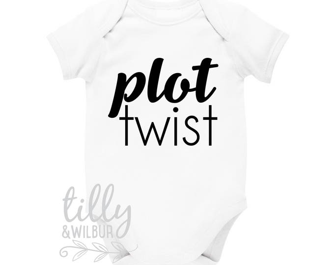 Plot Twist Pregnancy Announcement Baby Bodysuit