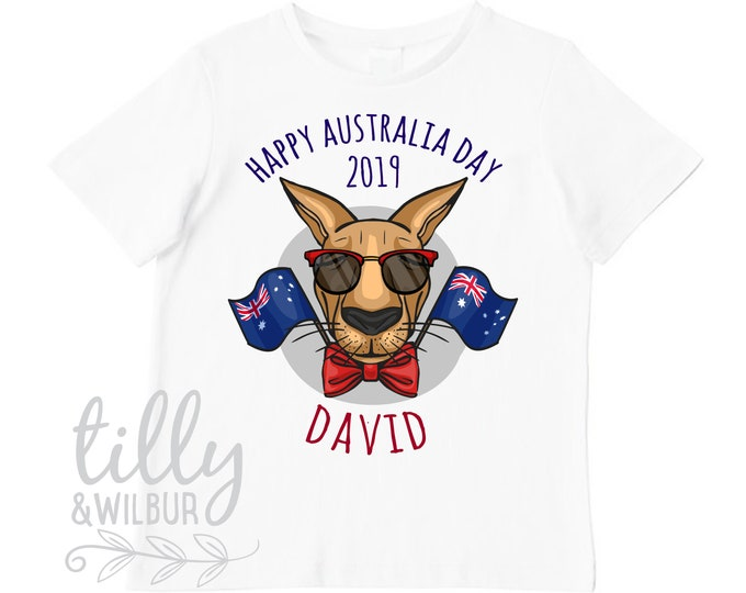 Personalised Happy Australia Day 2019 T-Shirt For Boys