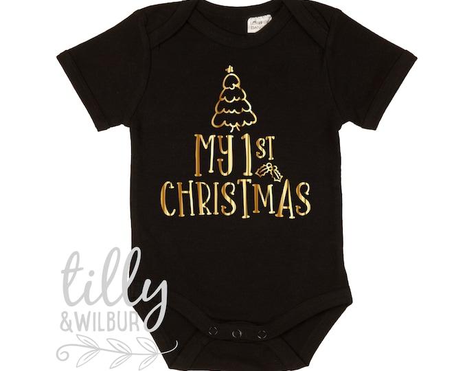My 1st Christmas Baby Bodysuit