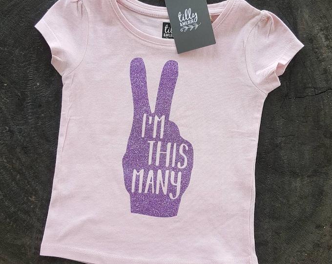 I'm This Many 2nd Birthday T-Shirt