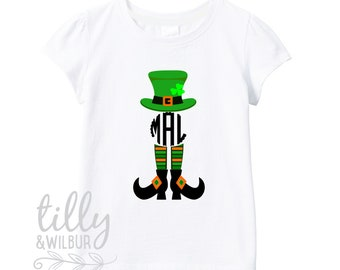 St Patrick's Day Personalised Girls T-Shirt