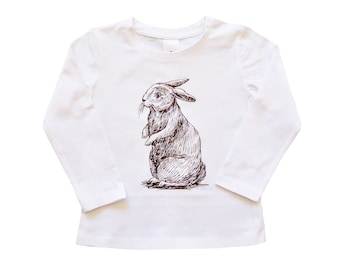 Easter Bunny Rabbit T-Shirt For Girls