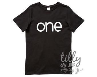One Birthday T-Shirt, First Birthday Gift, 1st Birthday TShirt, T-Shirt For Boys, Birthday Boy, First Birthday T-Shirt, I Am One, One Shirt