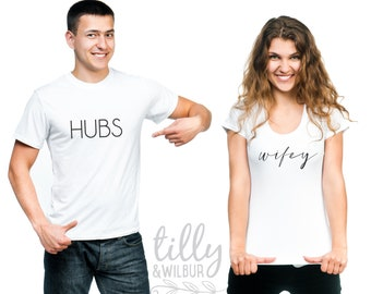 Hubs And Wifey Matching T-Shirt Set For Newlyweds