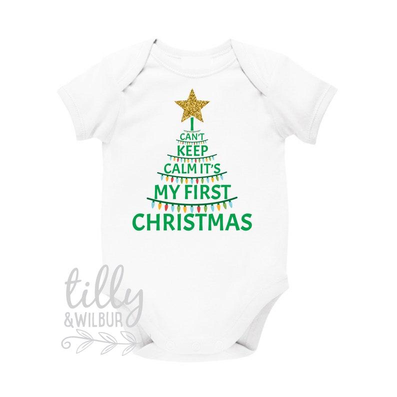 Babykleding Eerste Kerst.Ik Houden Niet Kalm Het Is Mijn Eerste Kerst 1e Kerst Romper Eerste Xmas Baby Romper Unisex Babykleding Nieuwe Baby S Eerste Kerst