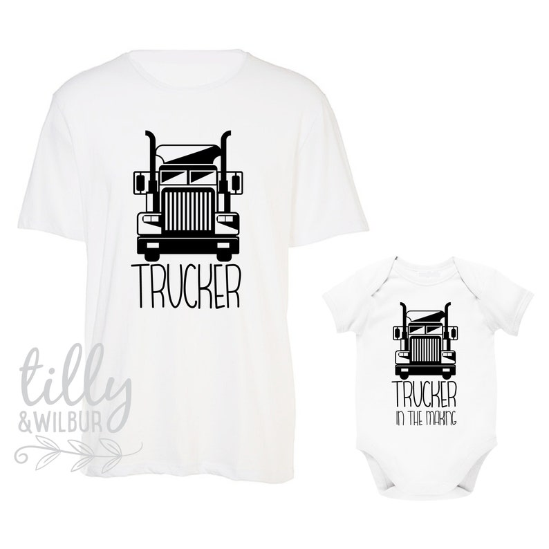 f0aac90f Trucker Trucker In The Making Father Son Matching Shirts | Etsy