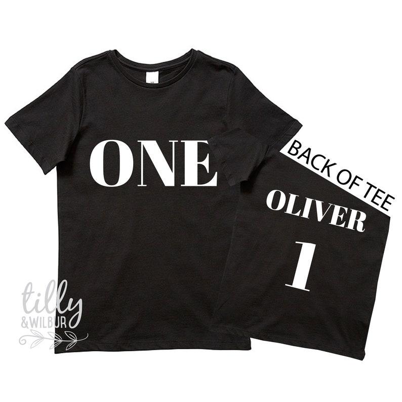 One Personalised Boys 1st Birthday T Shirt Gift