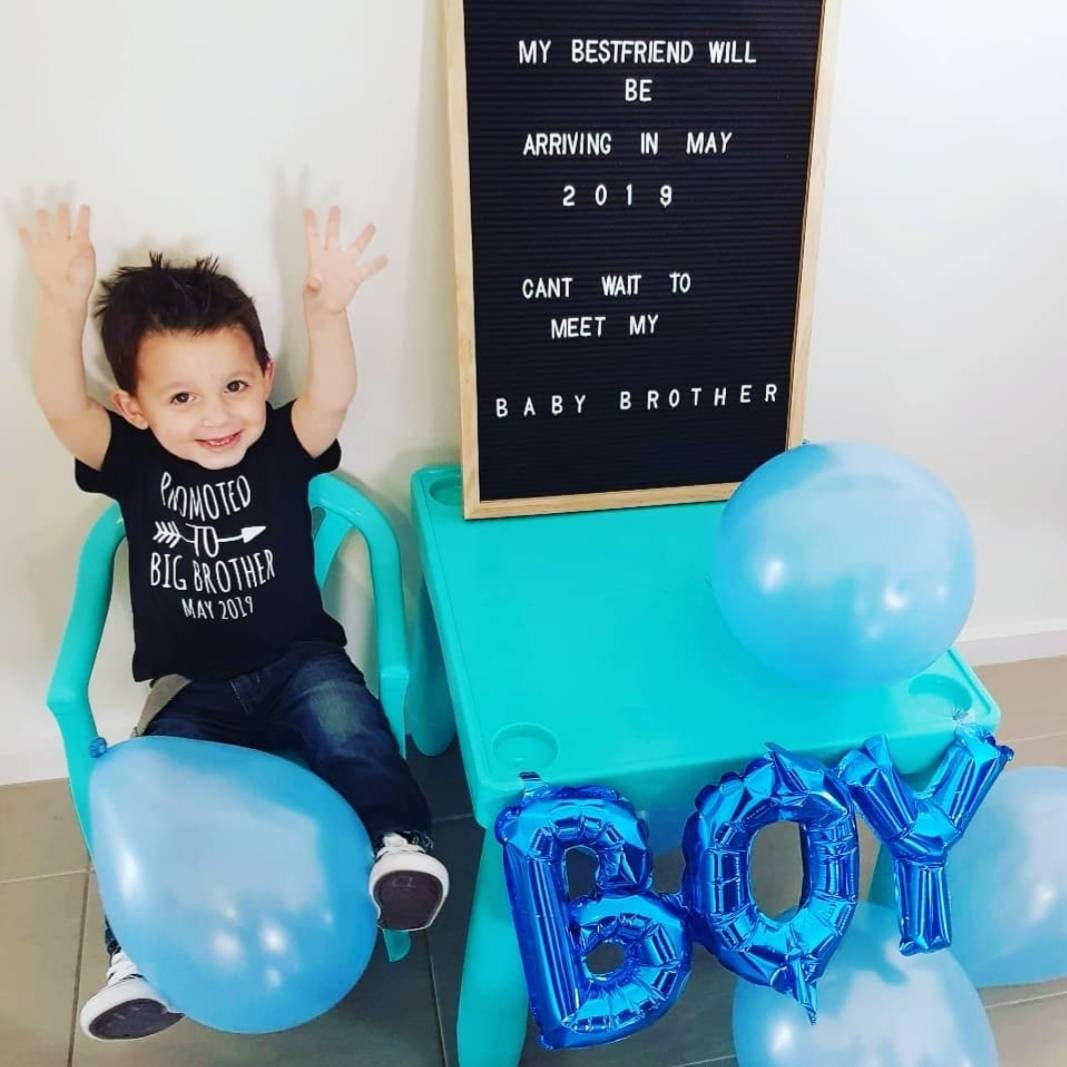 I/'m going to be a Big Brother 2019 Toddler T-shirt Boys T-shirt Baby Reveal