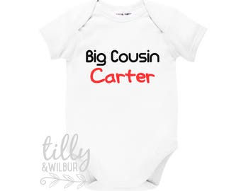 Big Cousin Personalised Baby Bodysuit