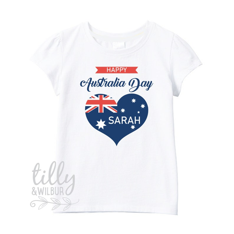 5d6591c28 Personalised Happy Australia Day T-Shirt For Girls Australia | Etsy
