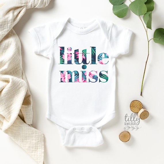 Little Miss Sparkling New baby girl bodysuit in your choice of size.