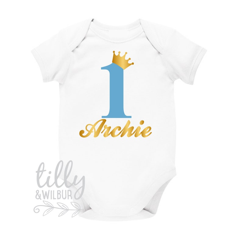 Personalised 1st Birthday Bodysuit One Shirt First