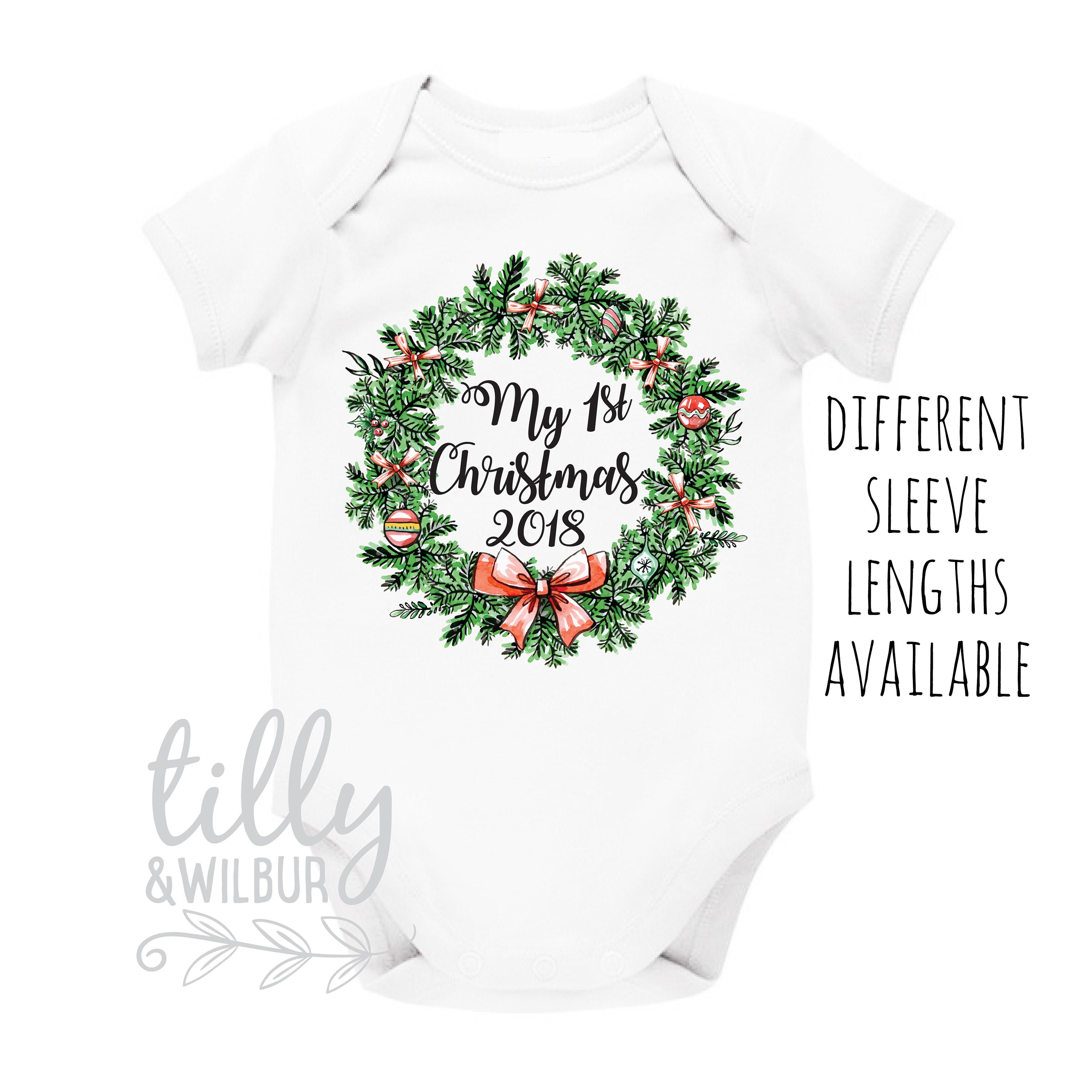My First Christmas 2018 1st Christmas Baby Outfit First Xmas | Etsy