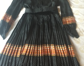 Vintage silky 60s french couture dress