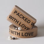 NEW! 50 meter  2,5 cm Sticky paper tape 'Packed with Love'