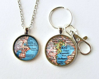 Long Distance Relationship Jewelry, Valentines Day Long Distance, Distance Keychain, Distance Necklace, Boyfriend Girlfriend Jewelry