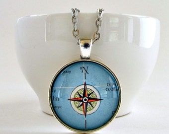 Compass Necklace for Women / Compass Jewelry Gift / Inspirational Necklace / Graduation Gifts for Her / Encouragement Gift / Mentor Gift