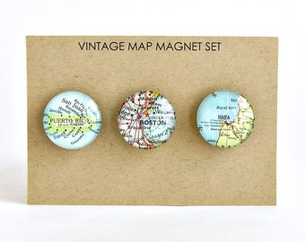 Personalized map magnets, Going away gifts for friends, Distance gifts for friends, Personalized coworker leaving gift