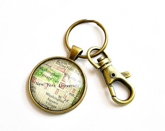 Personalized Map Keychain, High School Graduation Gifts, Personalized Graduation Gift, College Graduation