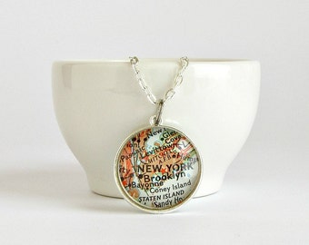 Personalized Distance Necklace, Long Distance Mom Birthday Gift, Long Distance Daughter, Sister Distance Gift, Long Distance Grandma