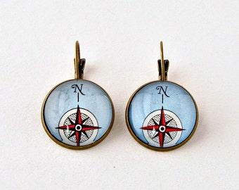 Nautical Womens Jewelry, Compass Rose Jewelry, Compass Retirement Gifts, Womens Retirement Gift