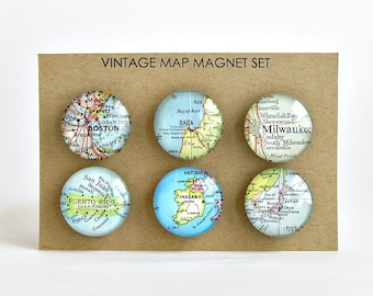 Wedding Map Magnets / Engagement Gift for Couple / Personalized Wedding Map Gift / Wedding Gifts for Couple / Wedding Gifts Personalized