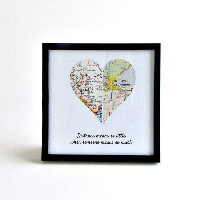 Long Distance Girlfriend Christmas Gift Boyfriend Birthday Relationship