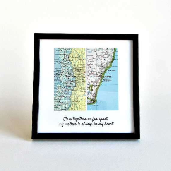 Long Distance Relationship Map Personalized Gift For