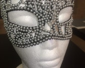 Sexy pearl lace eye masquerade mask prom ball halloween steampunk