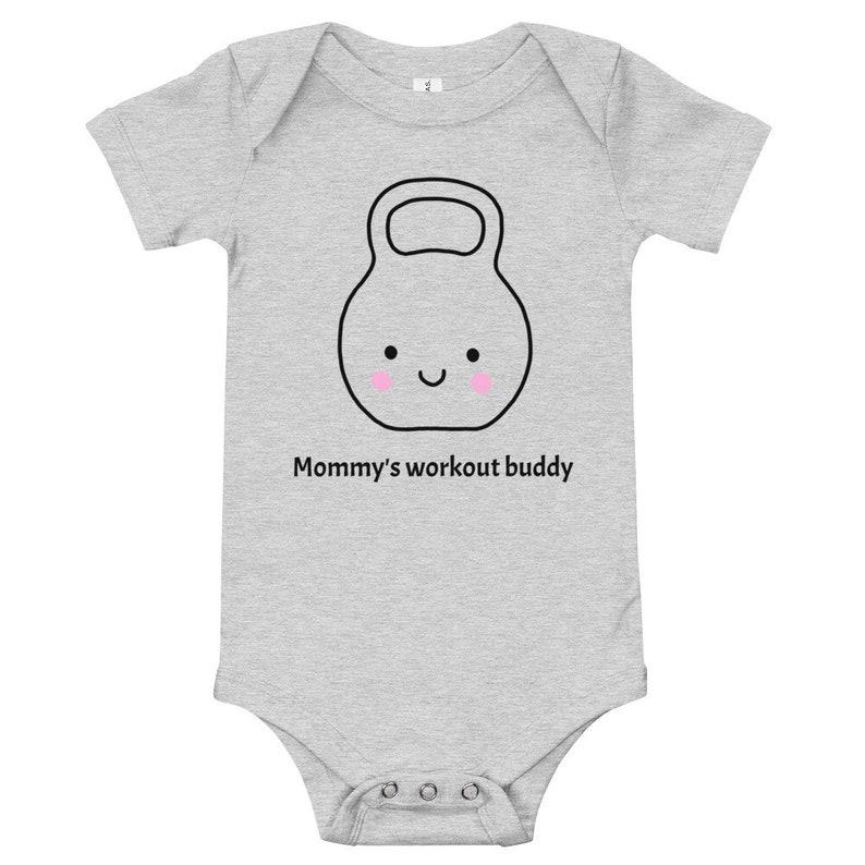Mommy/'s workout buddy baby romper onesie bodysuit