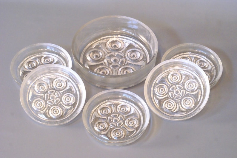 Walther Glass Bowl Set, ON THE ROCKS Walther Glass Dessert or Salad Bowls