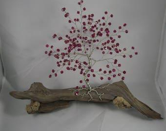 Purple Swarovski crystal Tree