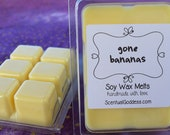 GONE BANANAS Soy Wax Melts - Yummy Banana Scented Tarts, Home Fragrance Bars for Your Wax Warmer