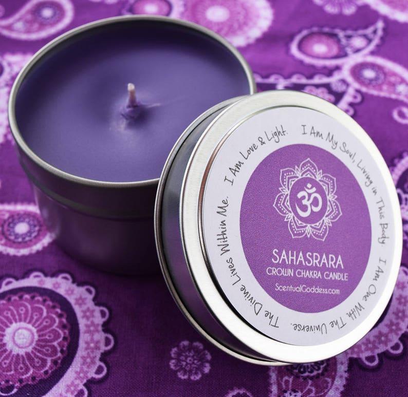 Crown Chakra Candle Sahasrara