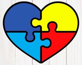 Autism SVG Autism Awareness SVG Autism Puzzle SVG Autism Heart svg Cricut Files Silhouette Files Autism Design Autism Decal Autism Decor