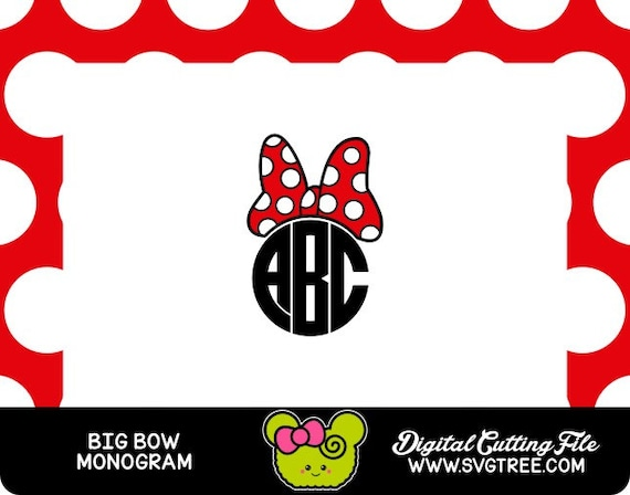 Polka Dot Bow Bow Monogram Svg Bow Svg Polka Dot Svg Etsy