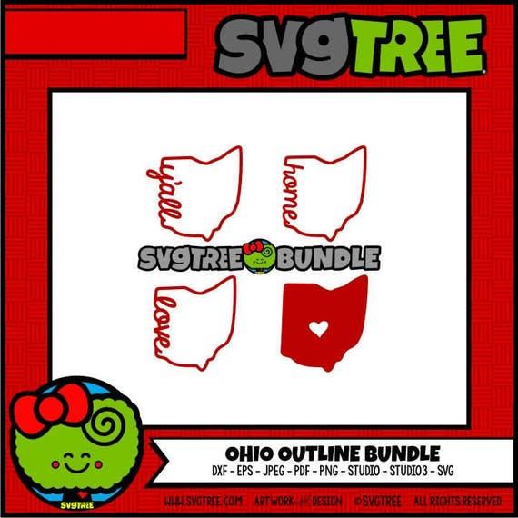 Ohio Svg State Outline Svg Home Svg Ohio Decor Home Svg Ohio Etsy
