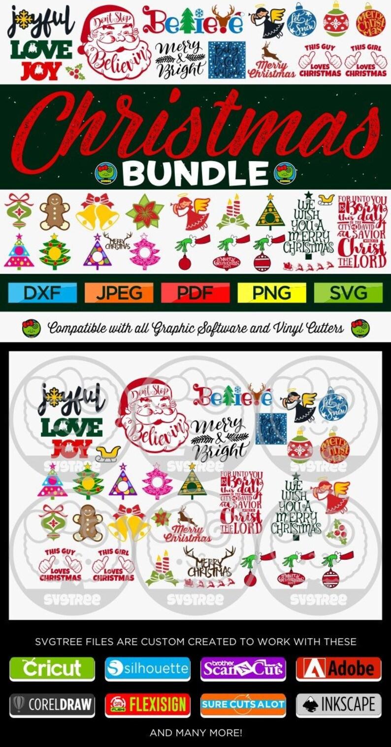 Christmas SVG Bundle Christmas Bundle SVG Christmas Files Bundle Cricut Files Silhouette Files Cut Files svg dxf png svg
